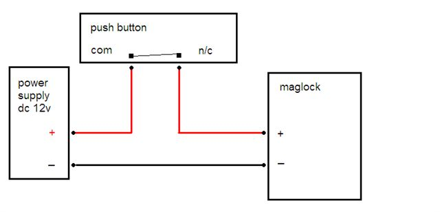 Schlage Maglock Wiring Diagram on door strike intercom access control diagram